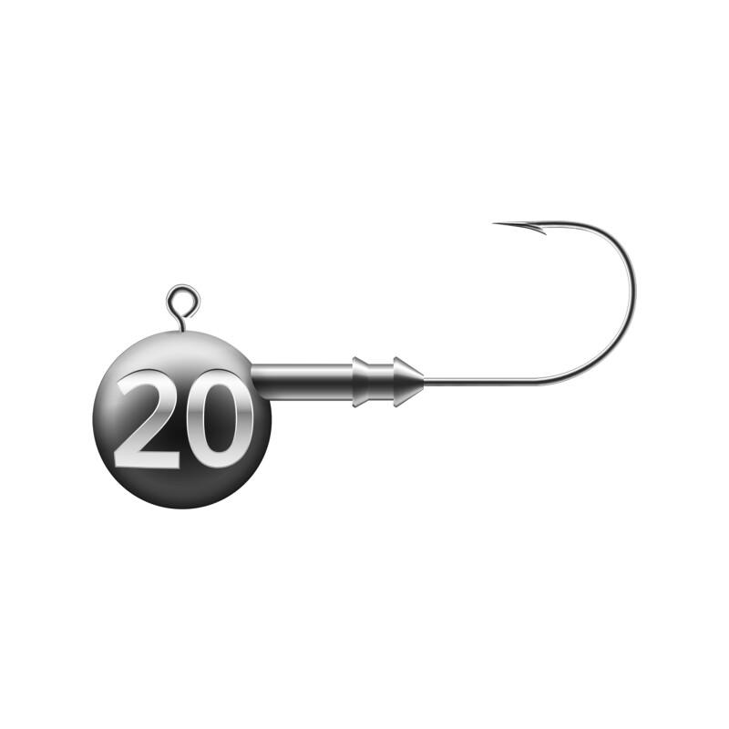 20 Gramm - Hakengröße 2/0 - 4 Stück