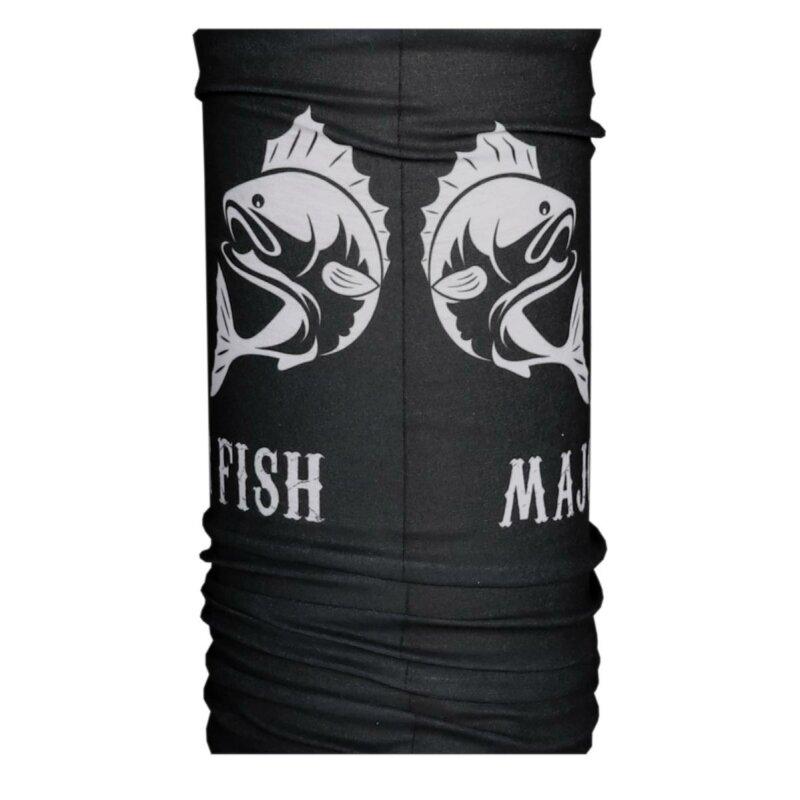 Major Fish Angelhandschuhe Landehandschuh Schwarz Gummiert