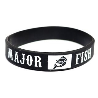 Major Fish Silikon Armband Schwarz
